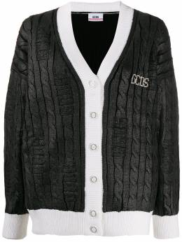 Gcds - metallic cable knit cardigan 6W606659955960690000