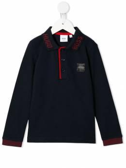 Boss Kids рубашка-поло с длинными рукавами J25E33