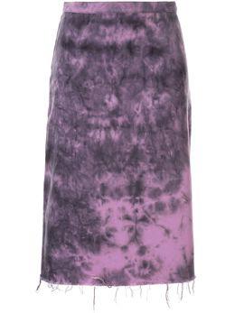 Marques'Almeida - tie dye print distressed skirt 9SK6693DRT9533968900