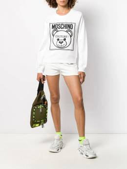 Moschino - teddy label running shorts 36550395505666000000