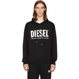 Diesel Black S-Division-Logo Hoodie 192001M20200904GB