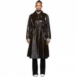 Lemaire Brown Long Shirt Coat W 194 CO238