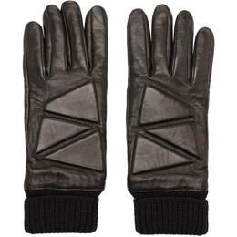 Bottega Veneta Black Leather High Frequency Gloves 192798M13500102GB