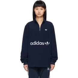 Adidas Originals Navy Logo Fleece Pullover 192751F09701803GB