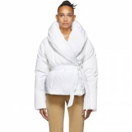 Saks Potts White Down Bubble Jacket 192231F06101901GB