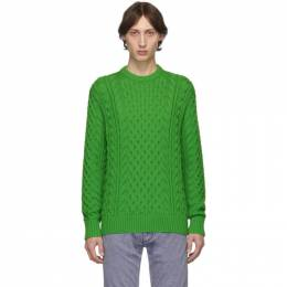 Rag&Bone Green Aran Crewneck Sweater 192055M20101103GB