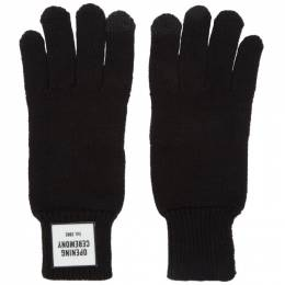 Opening Ceremony Black Knit Logo Gloves F198MN28053