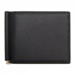 Smythson Black Panama Money Clip Wallet 192087M16400301GB