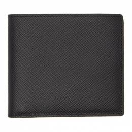 Smythson Black Panama 6 Card Wallet 192087M16400201GB
