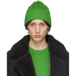 Rag&Bone Green Aran Beanie 192055M13800301GB