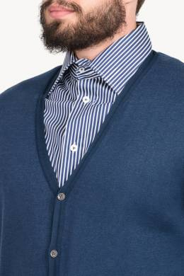 Синий кардиган с карманами John Smedley 1948151340