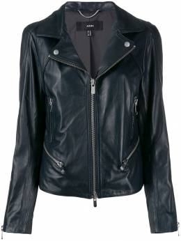 Arma - slim-fit zip-up biker jacket L9966856095535958000
