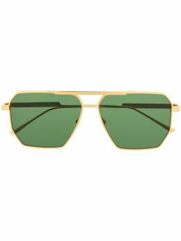 Bottega Veneta Eyewear - aviator frame sunglasses 058V5556955396660000