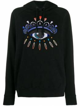 Kenzo - Eye embroidered knitted hoodie 0SW3665XF95599535000