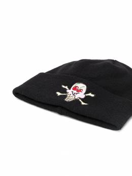 Palm Angels - ice cream embroidered patch beanie C666F996056069688955