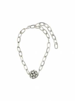 Alessandra Rich - crystal embellished sphere necklace A9855J60595506960000