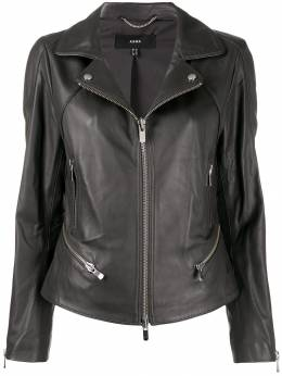 Arma - slim-fit zip-up biker jacket L9966856095535935000
