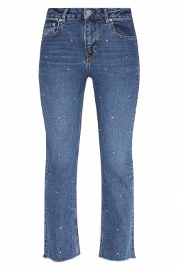 Синие джинсы с контрастной отделкой Maje 888153602