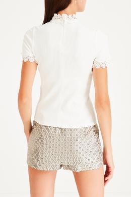 Блузка с отделкой кружевом Sandro 914153395