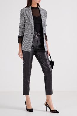 Черная блузка с полупрозрачной отделкой Maje 888153550