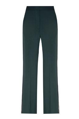 Зеленые брюки с лампасами Sandro 914153413