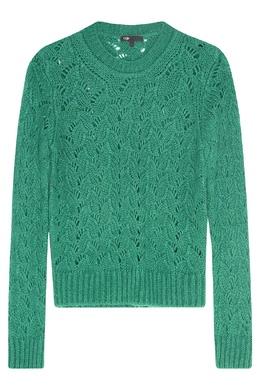Зеленый джемпер ажурной вязки Maje 888153458