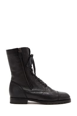Черные кожаные ботинки Campcha Shearling Manolo Blahnik 166153680
