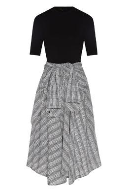 Комбинированное платье с асимметричным низом Maje 888153532