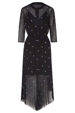 Черное платье с узором Maje 888153502
