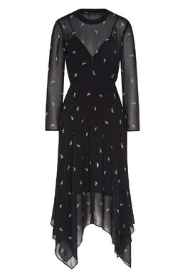 Черное платье с длинными рукавами Maje 888153508