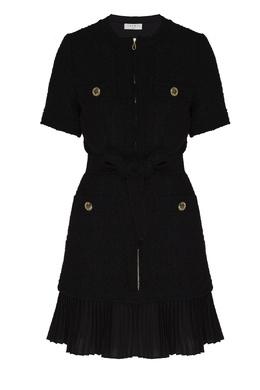 Черное платье-мини с карманами Sandro 914153420