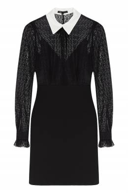 Черное платье-рубашка с отделкой Maje 888153541