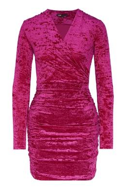 Драпированное платье розового цвета Maje 888153567