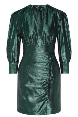 Зеленое блестящее платье Maje 888153573