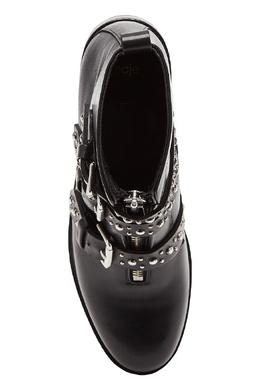 Черные кожаные ботинки с ремешками Maje 888153610