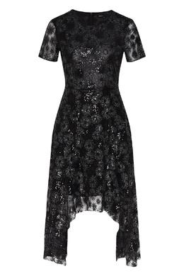 Асимметричное черное платье с пайетками Maje 888153544