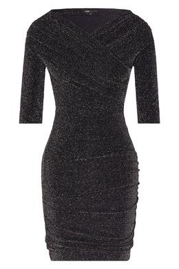 Драпированное платье-мини с открытыми плечами Maje 888153545