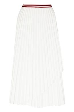 Белая плиссированная юбка-макси с запахом Maje 888153548
