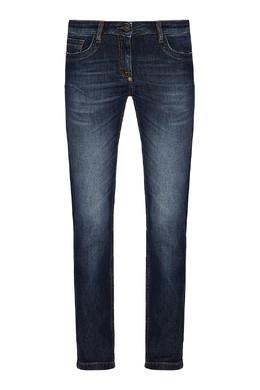 Зауженные джинсы синего цвета Bikkembergs 1487154884
