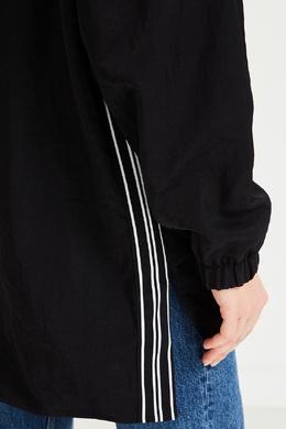 Черная куртка с капюшоном Bikkembergs 1487154856