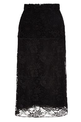 Черная кружевная юбка-миди Prada 40154564