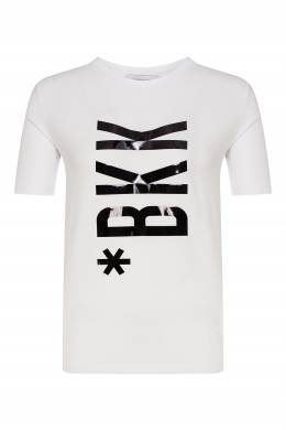 Белая футболка с крупным логотипом Bikkembergs 1487154877