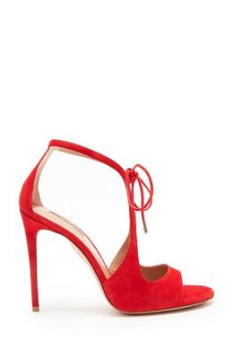 Бархатистые босоножки Oscar красного цвета Aquazzura 975154962