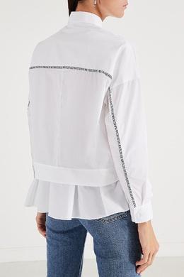 Белая рубашка с оборкой Bikkembergs 1487154879