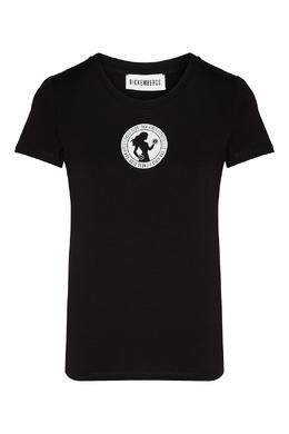 Черная футболка с круглым логотипом Bikkembergs 1487154838