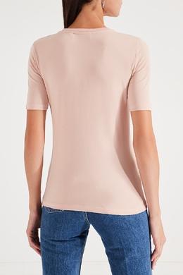 Розовая футболка с цветком Bikkembergs 1487154845