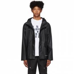 Stutterheim Black Stenhamra Lightweight Raincoat 192924M18000202GB