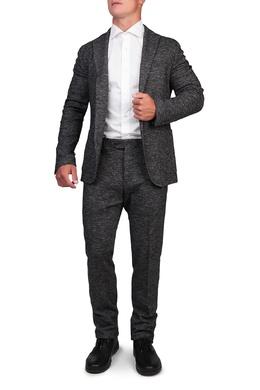 Брючный костюм из серого меланжа Eleventy 2014154802