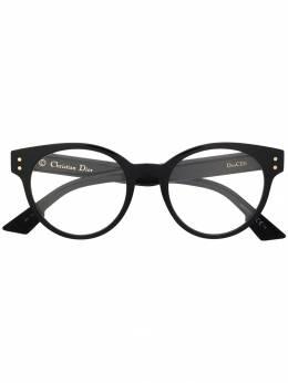 Dior Eyewear очки в круглой оправе с логотипом DIORCD3