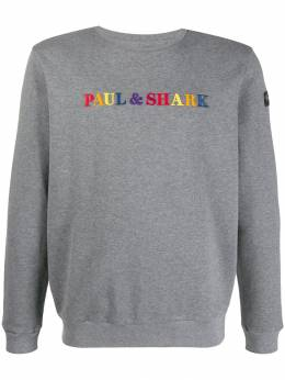 Paul&Shark - logo embroidered sweater P9995955589350000000